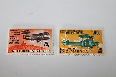 1969 50Th Anniversary Of 1St England-Australia Flight, Indonesian Stamps