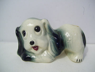 Vintage Comical Playful English Springer Spaniel Dog with Rump in the Air Vase