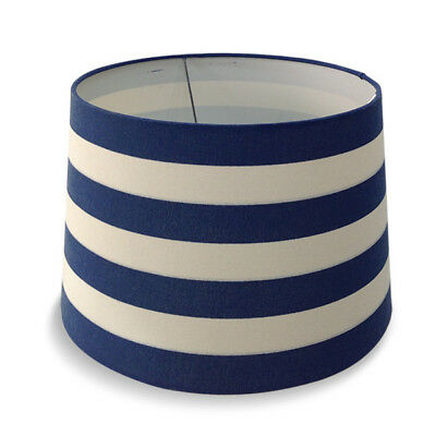 Blue and White Striped Linen Sailor Lamp Shade for Table Lamp Lighting H25cm