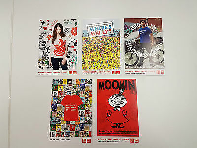 UNIQLO Australia 10 (promo t-shirt) postcard set- Andy Warhol, Moomin and more