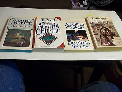 Agatha Christie lot of 4 DOUBLE SIN, SECRET ADVERSARY, DEATH IN THE AIR, VALENTI
