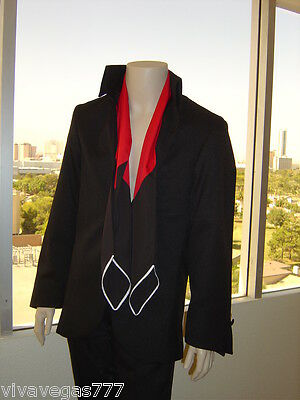 NEW- Elvis BLACK 1969 JACKET & Free SCARF (Tribute Artist Costume) Jumpsuit Era