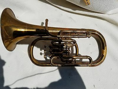 Early C.G. Conn  Eb Alto Horn G-VG used condition Ser#145480  inv#2150