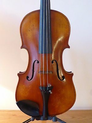 "Superb  Antique  Violin  - Quality Tone Woods - Lob  14 1/8""  Cased"