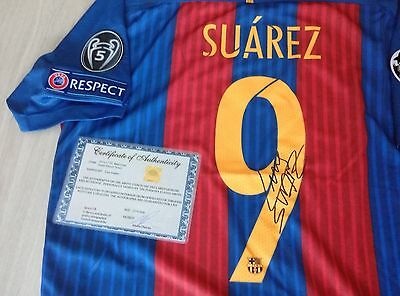 Luis Suarez FC Barcelona 2016-17 signed jersey with COA