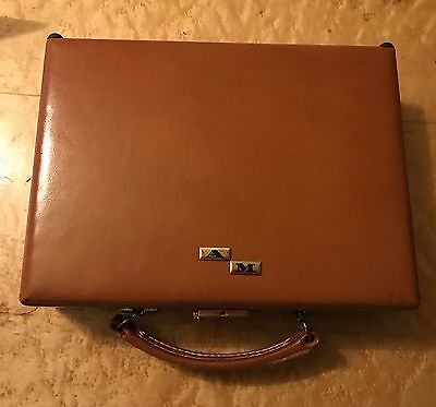 Vintage Top Grain Cowhide Trip Mode Mirrored Travel Vanity Case Complete