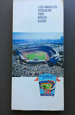 1992 MAJOR LEAGUE BASEBALL Los Angeles Dodgers Media Guide MLB