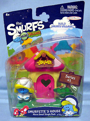 Micro Smurfs Village Smurfette's House Single Pack 2013 Sealed in Package