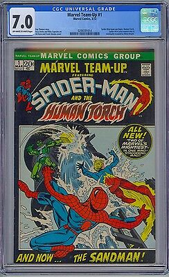 Marvel Team-Up #1 - Cgc 7.0 Ow-Wp Fn/vf Spider-Man Human Torch Misty Knight