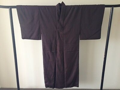 Japanese Woven Silk Vintage Men's Kimono Robe One of a Kind Hand Made Antique