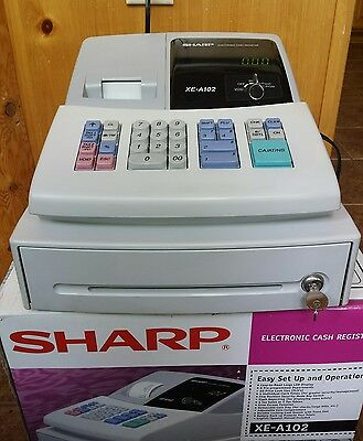 Sharp Electronic Cash Register Model XE-A102 Lightly Used Working Great