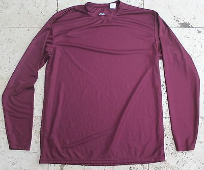 Baseball Undershirt Long Sleeve - Dark Maroon - A4 Brand - ADULT