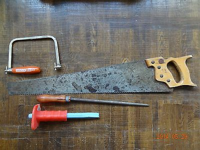 Vintage tools saw rasp etc USA made and other