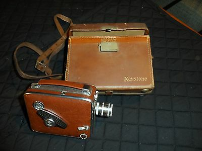 Vintage Keystone Bel Air K-41 8mm Magazine Camera with leather case (c. 1956)