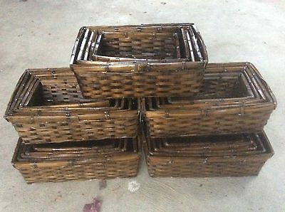 25 Storage Baskets / Basket Trays / hamper baskets
