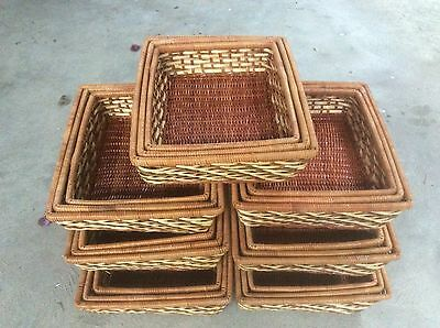 21 Storage Baskets / Basket Trays / hamper baskets