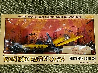 Voyage To The Bottom Of The Sea Submarine Scout Remco 1960S Mib Old Store Stock