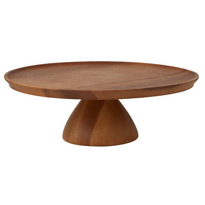 NEW Davis & Waddell Acacia Wood Footed Cake Stand