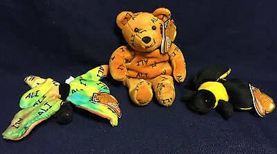 Lot of 10 sets Muhammad ALI  SALVINO'S BAMMERS  Plush  BEAR  BUTTERFLY  BEE  NWT