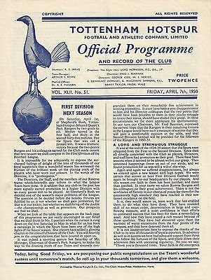 TOTTENHAM v HULL CITY - 1949/50