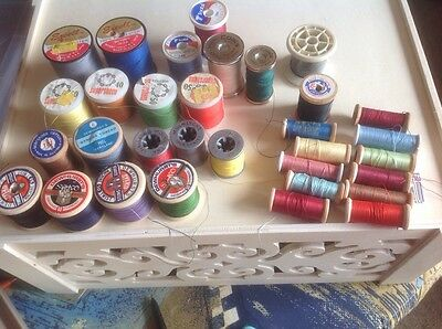 vintage sewing threads x 30