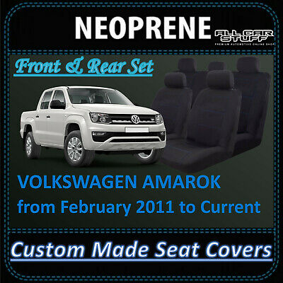 Waterproof Neoprene Seat Covers for Volkswagen Amarok Dual Cab: 02/2011 - on