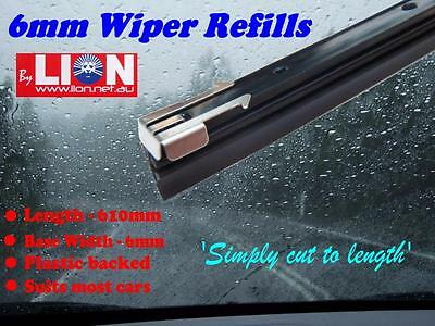 Lion Pair 6Mm Plastic Backed Windscreen Wiper Blade Refill (2 Blades)