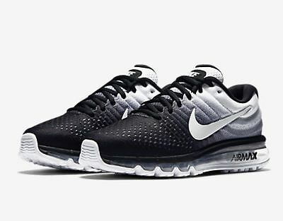 Nike Air Max 2017 Black White Men Running Shoes Sneakers Trainers