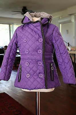 Dollhouse Toddler Girls Purple Hooded Quilted Jacket Coat size 2T