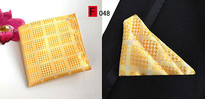 Yellow Patterned High Quality Pocket Square Handkerchief