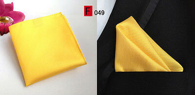 Yellow High Quality Pocket Square Handkerchief