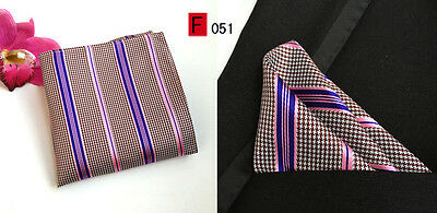 Pink and Purple Patterned High Quality Pocket Square Handkerchief