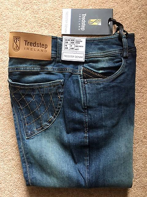 Tredstep Knne Patch Navy Denim Ladies Breeches BRAND NEW - 28R