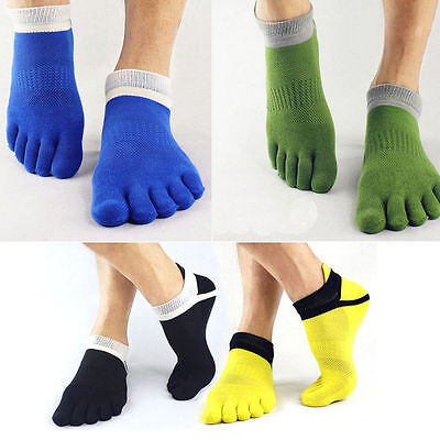 2 Pares Calcetines 5 Dedos Barefoot Yoga Pilates Trail Running Ciclismo Deporte