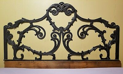 Vintage Cast Iron Full Size Bed Headboard 55""