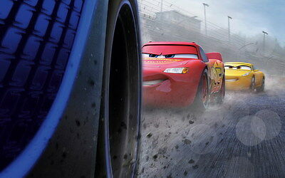 "025 Cars 3 - Pixar Lightning McQueen 2017 Cartoon Movie 38""x24"" Poster"