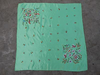 Antique Chinese Hand Embroidery Silk Wall Hanging Panel 72X72cm (X129)