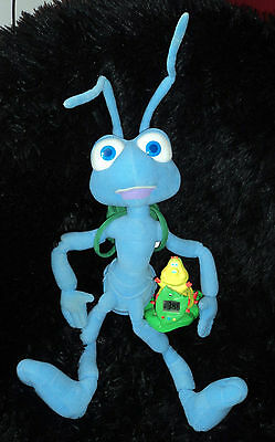 Rare Disney A Bug's Life Interactive Flik & Heimlich Talking Plush Alarm Set