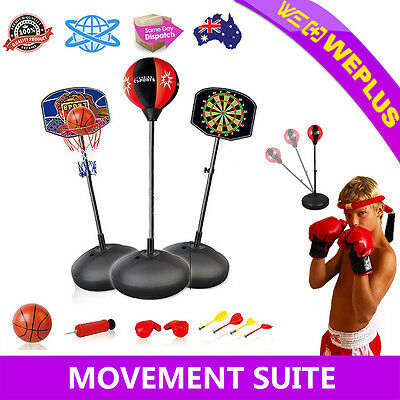 3 in 1 Portable Basketball Stand Hoop Net with Darts Speed Ball Toy Outdoor Game