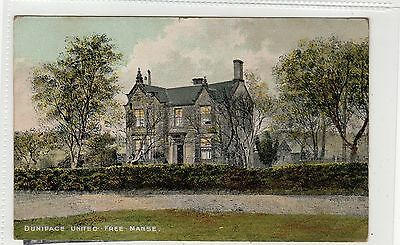 DUNIPACE UNITED FREE MANSE: Stirlingshire postcard (C27657)