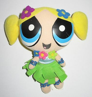 "Rare Official Powerpuff Girls Hawaiian Bubbles Cartoon Network Plush 7"" Soft Toy"