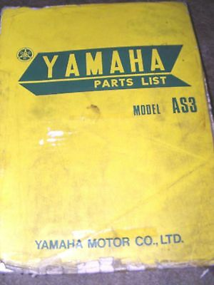 Yamaha As3 Parts List Manual  (First Edition March 1971)