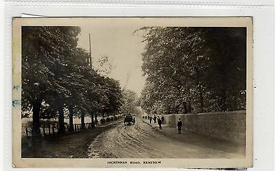INCHINNAN ROAD, RENFREW: Renfrewshire postcard (C27714)