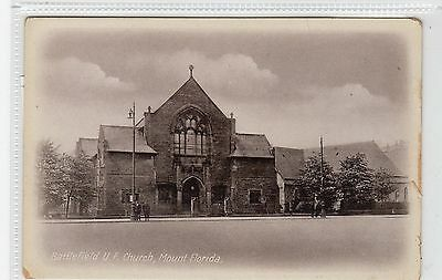 BATTLEFIELD U.F. CHURCH, MOUNT FLORIDA: Glasgow postcard (C27896)