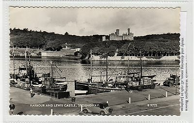 HARBOUR AND LEWIS CASTLE, STORNOWAY: Isle of Lewis postcard (C27800)