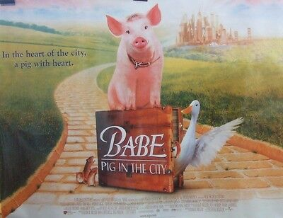 BABE PIG IN THE CITY(1998) Original rolled UK quad movie poster UK POST FREE