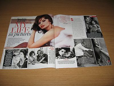 SOPHIA LOREN - My Life In Pictures - 2 page magazine clipping
