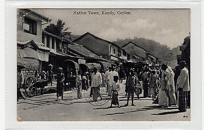 NATIVE TOWN, KANDY: Ceylon postcard to Argentina (C27842)