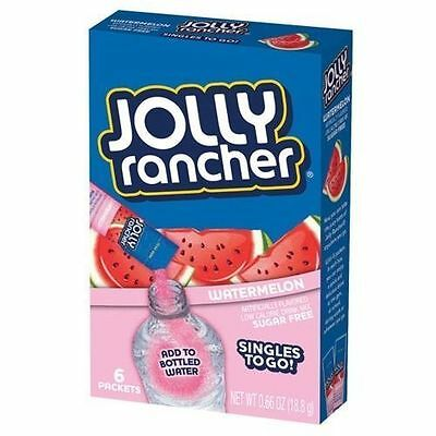 Jolly Rancher Watermelon singles to go flavour sachet 6 sticks American kool aid