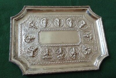 Antique  Indian / Burmese Silver Tray 293grams